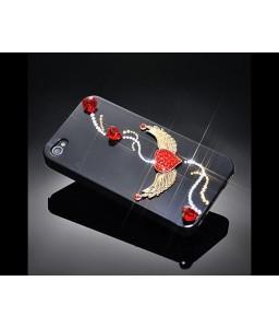 Wing's Heart Bling Swarovski Crystal Phone Cases