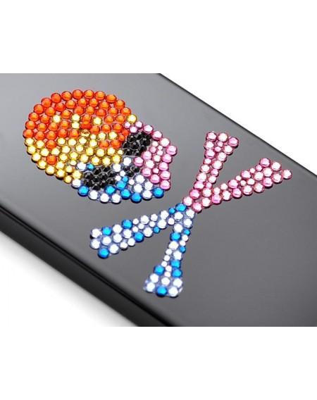 Skull Crossed Bling Swarovski Crystal Phone Cases - Colourful