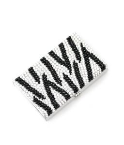 Zebra Wave Bling Swarovski Crystal Business Card Case