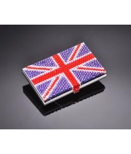 United Kingdom Bling Swarovski Crystal Card Case