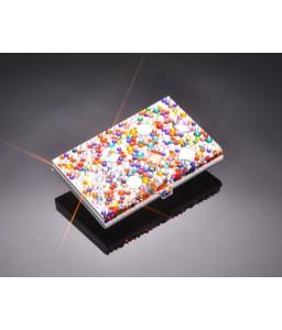 Symmetric Bling Swarovski Crystal Card Case