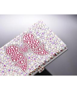 Ribbon Bling Swarovski Crystal Card Case