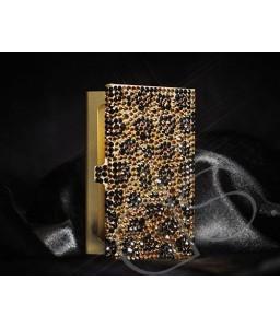 Leopardo Swarovski Crystallized Card Case