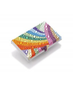 Rainbow Bling Swarovski Crystal Business Card Case