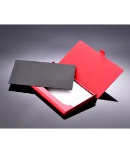 Rock Skull Bling Swarovski Crystal Card Case - Red