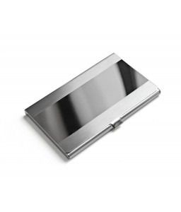 Simple Lined Stainless Steel Business Card Holder