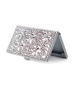 Snowflake Bling Swarovski Crystal Business Card Case