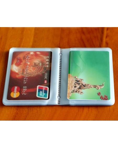 Card Holder 26 Slots Wallet Insert - Transparent