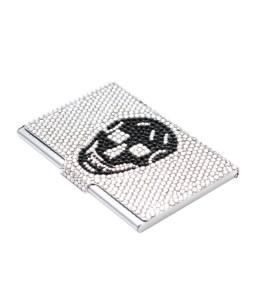 Skull Bling Swarovski Crystal Business Card Case