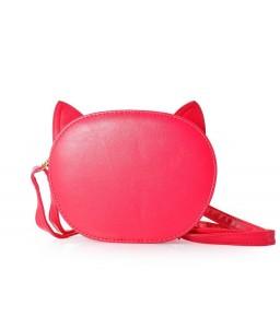 Cute Leather Shoulder Bag for Fujifilm Instax Mini Camera - Magenta