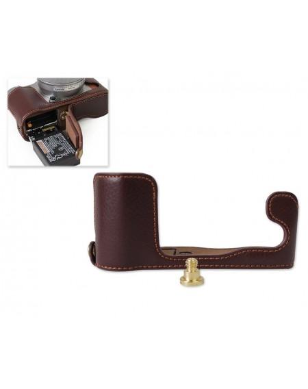 Fujifilm X-A5 Genuine Leather Half Camera Case