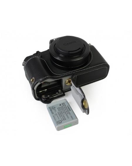 Canon PowerShot G1 X Mark III Genuine Leather Half Camera Case
