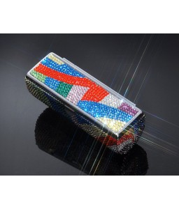 Trendy Swarovski Crystal Lipstick Case With Mirror