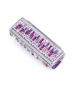Medley Swarovski Crystal Lipstick Case With Mirror - Purple