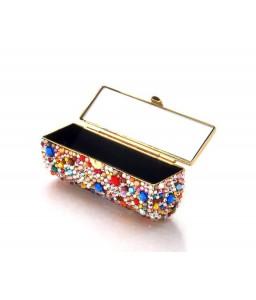 Colorato Bling Swarovski Crystal Lipstick Case With Mirror