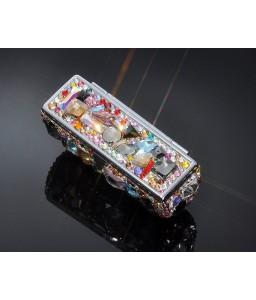 Wonderful Swarovski Crystal Lipstick Case With Mirror